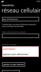 HTC Windows Phone 8X - Réseau - Sélection manuelle du réseau - Étape 6