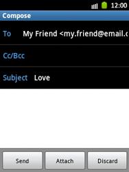 Samsung S5300 Galaxy Pocket - E-mail - Sending emails - Step 9