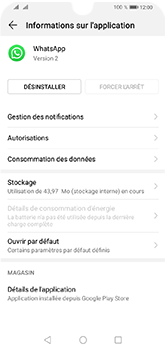 Huawei Y5 (2019) - Applications - Supprimer une application - Étape 6