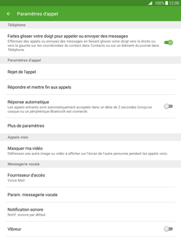 Samsung Galaxy Tab A 9.7 - Messagerie vocale - Configuration manuelle - Étape 6