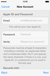 Apple iPhone 4S iOS 7 - Applications - Setting up the application store - Step 12