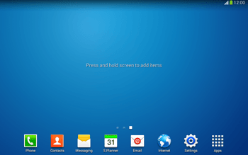 Samsung Galaxy Tab 3 10-1 LTE - Getting started - Installing widgets and applications on your start screen - Step 3