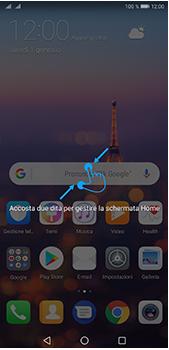 Huawei P20 Pro - Operazioni iniziali - Installazione di widget e applicazioni nella schermata iniziale - Fase 3