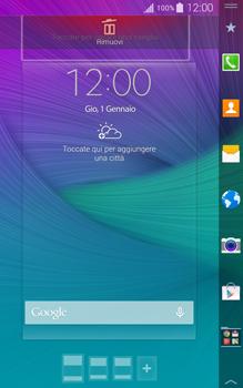 Samsung Galaxy Note Edge - Operazioni iniziali - Installazione di widget e applicazioni nella schermata iniziale - Fase 7