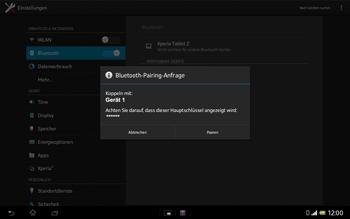 Sony Xperia Tablet Z LTE - Bluetooth - Verbinden von Geräten - Schritt 7