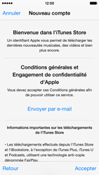 Apple iPhone 5s - iOS 8 - Applications - Créer un compte - Étape 11