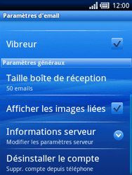 Sony Ericsson Xperia X10 Mini Pro - E-mail - configuration manuelle - Étape 11