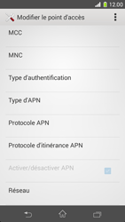 Sony Xperia Z1 Compact - Internet et roaming de données - Configuration manuelle - Étape 12