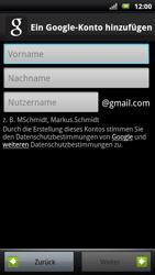 Sony Ericsson Xperia X10 - Apps - Konto anlegen und einrichten - Schritt 6