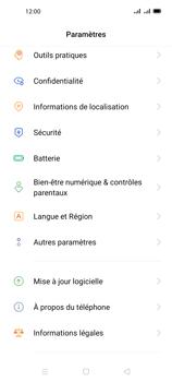 Oppo A72 - Sécuriser votre mobile - Personnaliser le code PIN de votre carte SIM - Étape 4