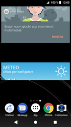 Sony Xperia XZ1 - Operazioni iniziali - Installazione di widget e applicazioni nella schermata iniziale - Fase 8