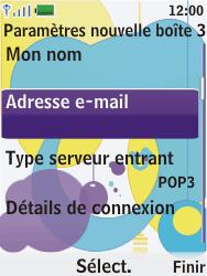 Nokia 7310 supernova - E-mail - Configuration manuelle - Étape 14