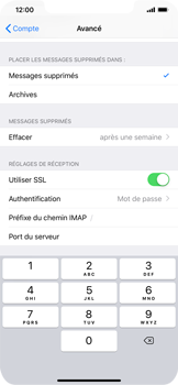 Apple iPhone XS Max - E-mail - Configuration manuelle - Étape 26