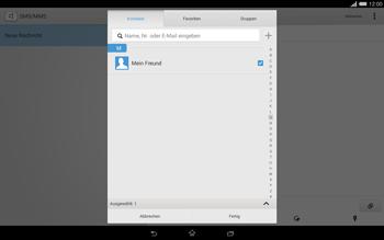 Sony Xperia Tablet Z2 LTE - MMS - Erstellen und senden - 11 / 22