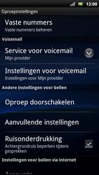 Sony Xperia Neo - Voicemail - Handmatig instellen - Stap 5