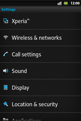 Sony ST27i Xperia Go - Voicemail - Manual configuration - Step 4