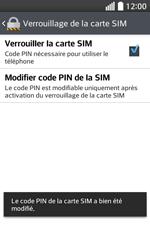 LG F70 - Sécuriser votre mobile - Personnaliser le code PIN de votre carte SIM - Étape 14