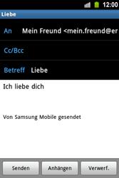 Samsung Galaxy Ace - E-Mail - E-Mail versenden - 10 / 15
