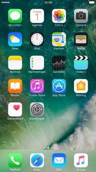 Apple Apple iPhone 6 Plus iOS 10 - iOS features - Verwijder en herstel standaard iOS-apps - Stap 1