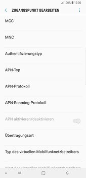Samsung Galaxy S8 Plus - Android Oreo - Internet und Datenroaming - Manuelle Konfiguration - Schritt 13