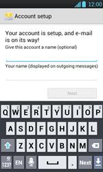 LG P700 Optimus L7 - E-mail - Manual configuration - Step 16