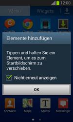 Samsung Galaxy Trend Lite - Startanleitung - Installieren von Widgets und Apps auf der Startseite - Schritt 5