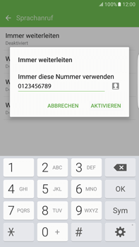 Samsung Galaxy S6 edge+ - Anrufe - Rufumleitungen setzen und löschen - 11 / 13