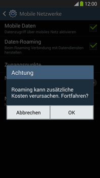 Samsung Galaxy Note 3 LTE - Ausland - Im Ausland surfen – Datenroaming - 9 / 12
