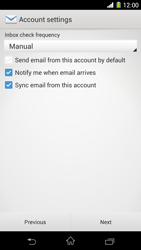 Sony Xperia Z1 - E-mail - manual configuration - Step 17
