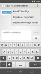 Sony Xperia Z1 Compact - MMS - Erstellen und senden - 13 / 23
