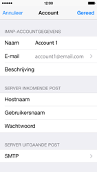 Apple iPhone 5s iOS 8 - E-mail - Account instellen (IMAP zonder SMTP-verificatie) - Stap 18