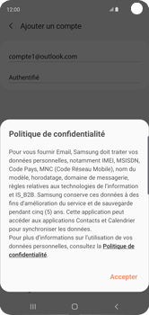 Samsung Galaxy S10 - E-mail - 032c. Email wizard - Outlook - Étape 13