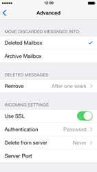 Apple iPhone 5 iOS 7 - E-mail - manual configuration - Step 25