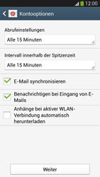Samsung I9505 Galaxy S4 LTE - E-Mail - Konto einrichten (yahoo) - Schritt 7