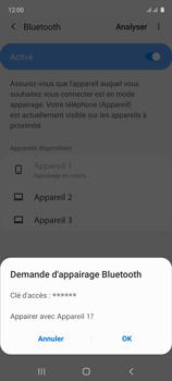 Samsung Galaxy A51 - Internet et connexion - Connexion avec un équipement multimédia via Bluetooth - Étape 9