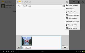 Samsung Galaxy Note 10-1 - MMS - Erstellen und senden - 17 / 21