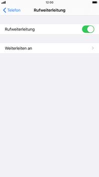Apple iPhone 8 Plus - iOS 13 - Anrufe - Rufumleitungen setzen und löschen - Schritt 6
