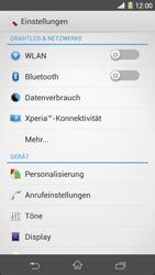 Sony Xperia Z1 - Netzwerk - Netzwerkeinstellungen ändern - 4 / 8