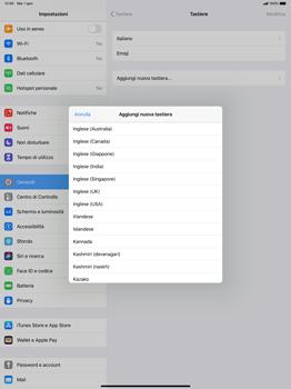 Apple iPad Pro 12.9 (1st gen) - ipados 13 - Operazioni iniziali - Come aggiungere una lingua alla tastiera - Fase 7
