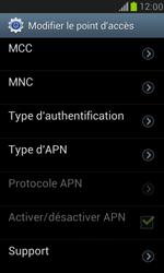 Samsung Galaxy S III Mini - Internet et roaming de données - Configuration manuelle - Étape 12