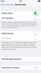 Apple iPhone 6 iOS 8 - Internet und Datenroaming - Deaktivieren von Datenroaming - Schritt 5