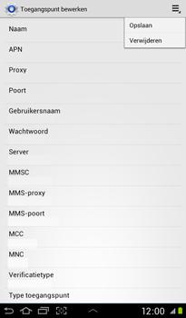 Samsung Samsung P3100 Galaxy Tab 2 7-0 - Internet - handmatig instellen - Stap 14