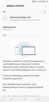 Samsung galaxy-j4-plus-dual-sim-sm-j415fn - WiFi - Mobiele hotspot instellen - Stap 7