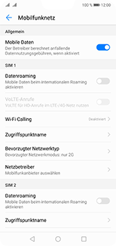 Huawei P20 Lite - Netzwerk - Netzwerkeinstellungen ändern - 7 / 7