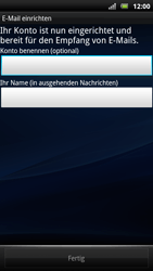 Sony Ericsson Xperia Arc S - E-Mail - Konto einrichten - Schritt 12