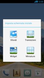 Huawei Ascend G526 - Operazioni iniziali - Installazione di widget e applicazioni nella schermata iniziale - Fase 4