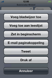 Apple iPhone 4S met iOS 5 (Model A1387) - Internet - Hoe te internetten - Stap 10