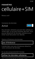 Nokia Lumia 635 - Internet et connexion - Désactiver la connexion Internet - Étape 5