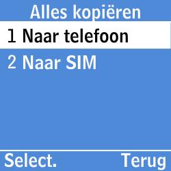 Samsung GT-E1200i - Contacten en data - Contacten kopiëren van SIM naar toestel - Stap 6