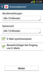 Samsung I9060 Galaxy Grand Neo - E-Mail - Konto einrichten - Schritt 17